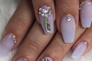 Pastel Violet Nail Art Designs in 2018
