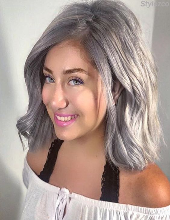 Awesome Grey Hair Color Ideas with Stylish Girls for 2018
