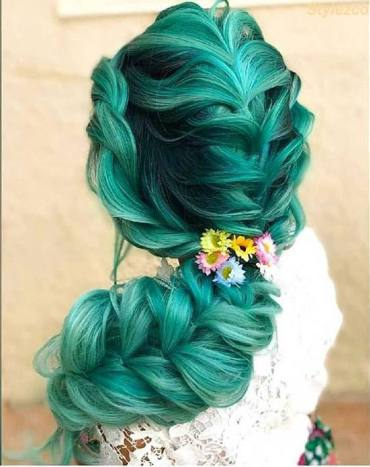 Amazing Green Braided Hairstyles for Long Hair In 2018