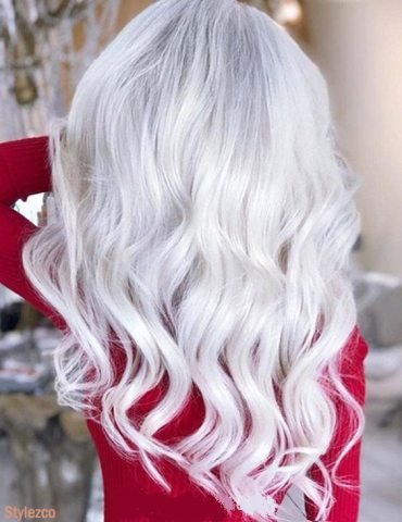 Gorgeous Long Hairstyle & Cuts with White Color fro 2018
