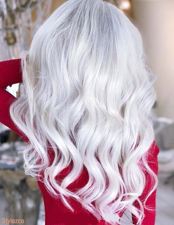 Gorgeous Long Hairstyle & Cuts with White Color for 2018