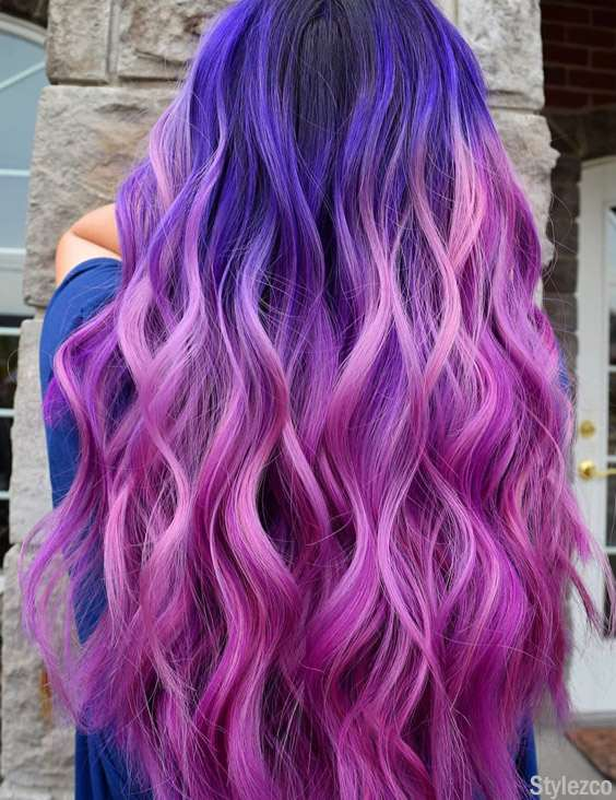 Perfect Pink & Blue Hair Color Combination for Blonde Girls In 2018