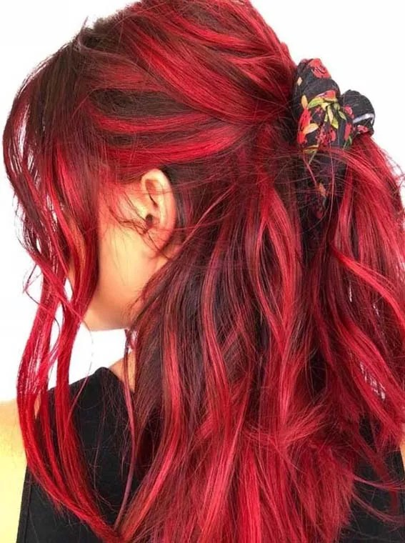 Sexy Messy Style And Hot Red Hair Colors For Girls 2018