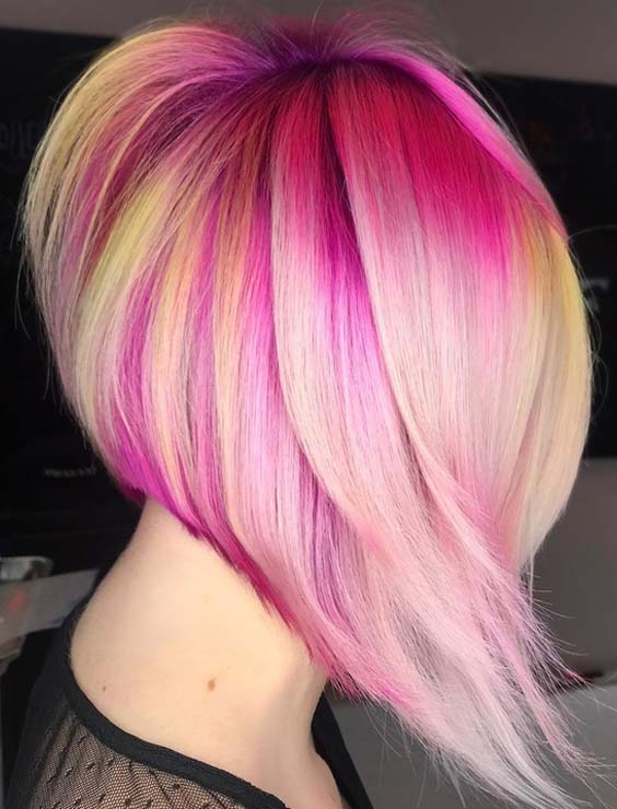 Stunning Cool Pink Lemonade Hair Color For Lob Styles for 2018