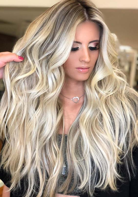 Stunning Voluminous Long Thick Blonde Hairstyles For 2018 Stylezco