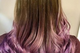 Lavender Balayage Hair Color Ideas in 2019