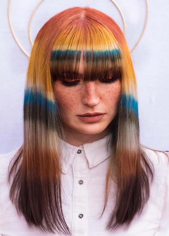 Modern Hair Colors & Hairstyles with Bangs in 2019