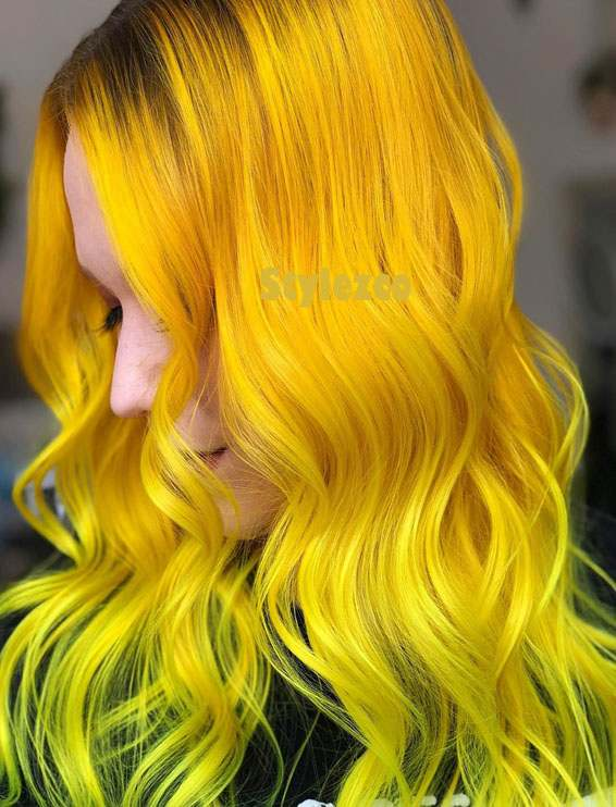 Bright Golden Yellow Hair Color Ideas for Everyone In 2019