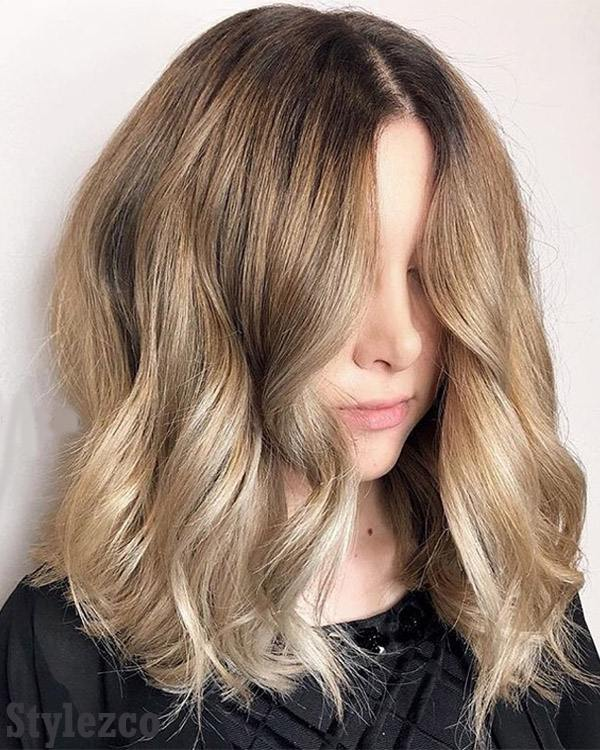 Golden Balayage Hairstyle & Hair Color Trends for 2019