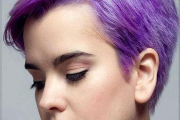 Lovely Purple Short Haircut & Hairstyles for Girls In 2019