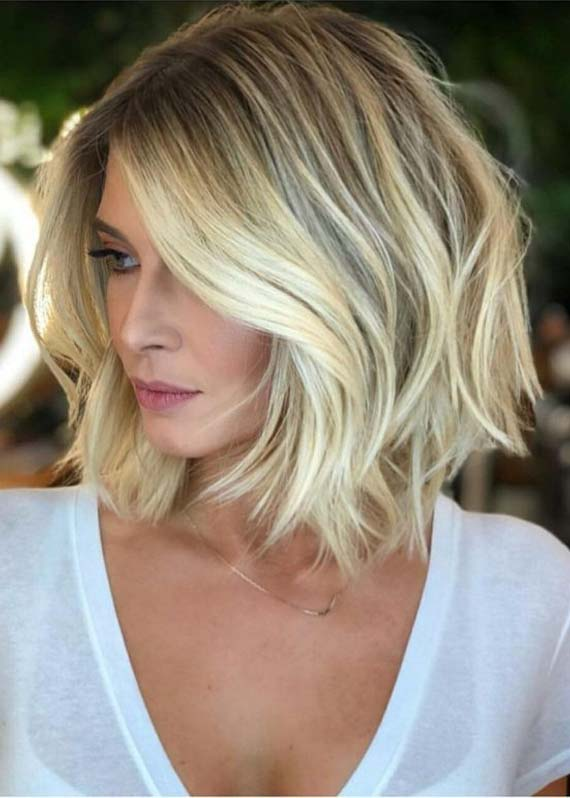 Stunning Medium Length Blonde Haircuts To Create In 2019