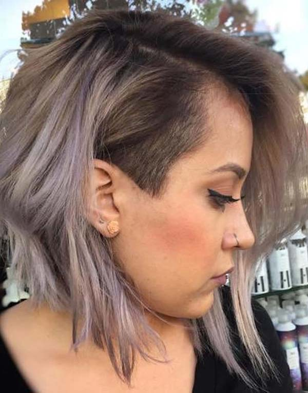 Undercut Short Bob Haircuts for Women 2019