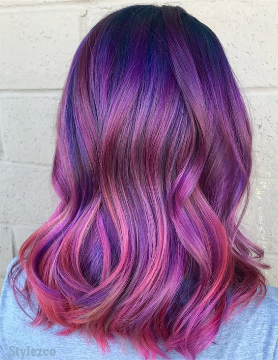 Awesome Pink Blue Hair Color Ideas Combination For 2019 Stylezco