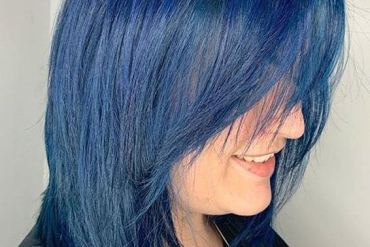 Cool Blue Hair Color Style for Short Hair To Try Now