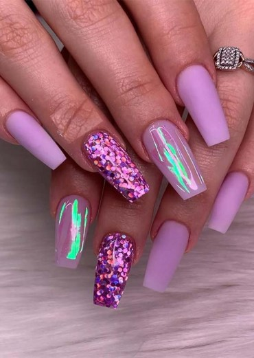 Amazing Purple Nail Arts & Designs for 2019