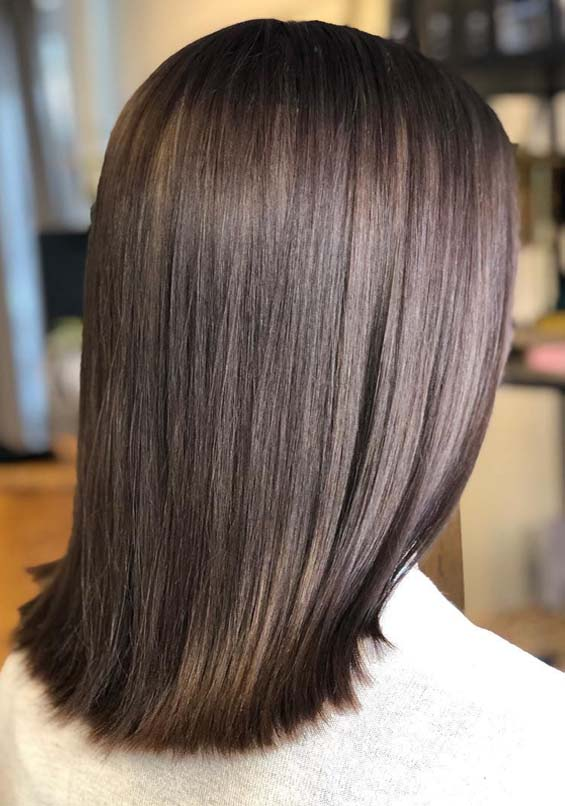 Gorgeous Ash Brown Hair Color Shades For Straight Hair In