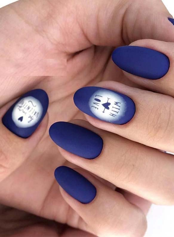 Gorgeous Blue Nail Art Designs for 2019