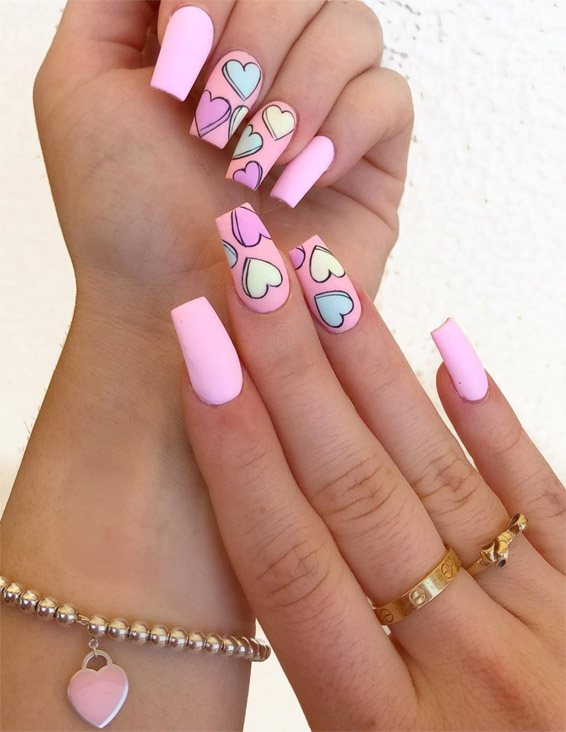 Hottest Pink Heart Nail Art Designs for 2019 | Stylezco
