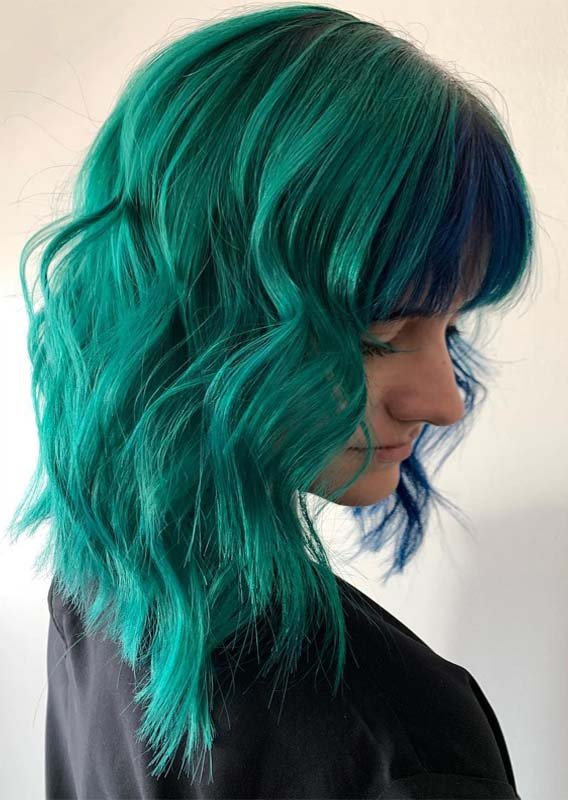Obsessed Green Hair Color Ideas for 2019