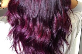 Purple Balayage Hair Color Styles for 2019