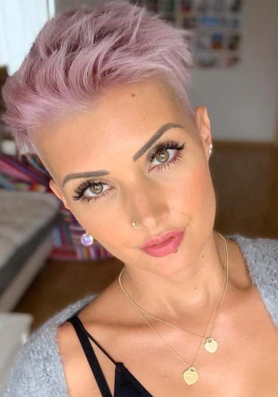Amazing Purple Short Pixie Haircut Styles for Ladies in ...