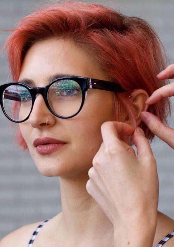 Short Red Haircut Ideas for Women 2019