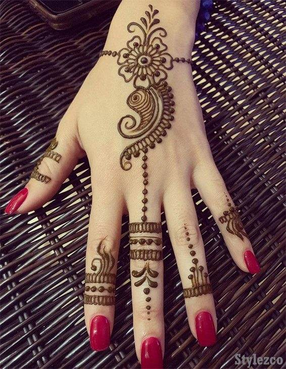 Simple & Easy Henna Mehndi Designs for Superior Girls