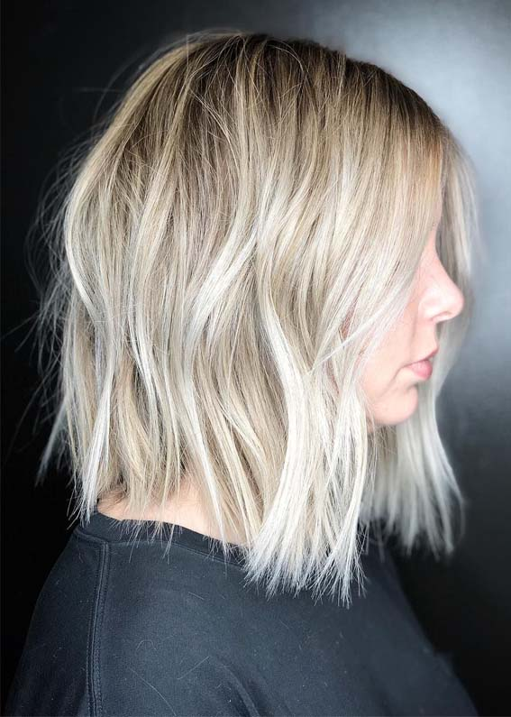 Amazing Textured Blonde Bob Haircut Styles for 2019