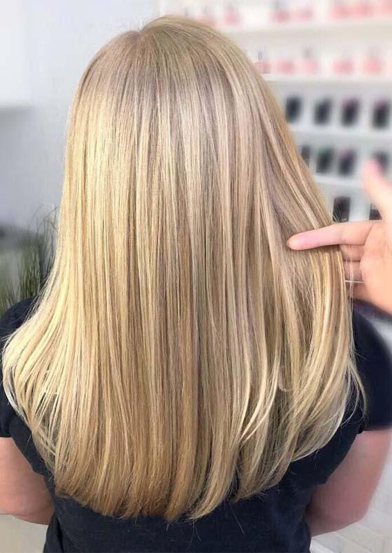 Balayaged Sleek Straight Hairstyles for 2019
