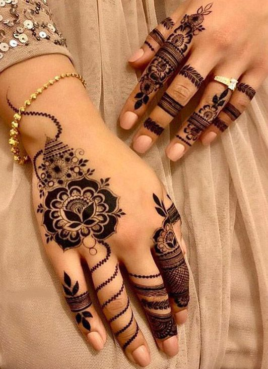 New Style of Henna Mehndi Designs for Hand & Finger