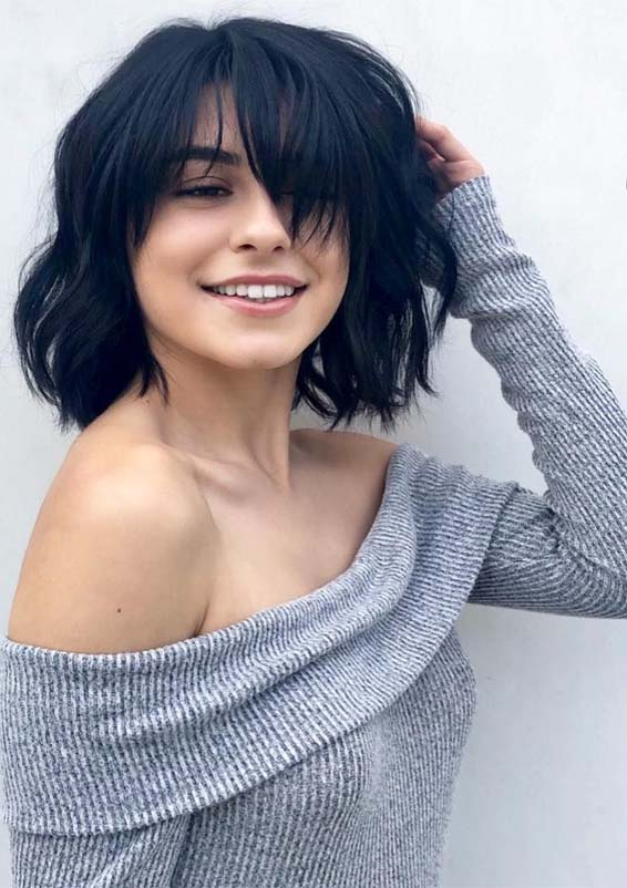 Amazing Short Hairstyles for Girls with Bangs in Year 2019