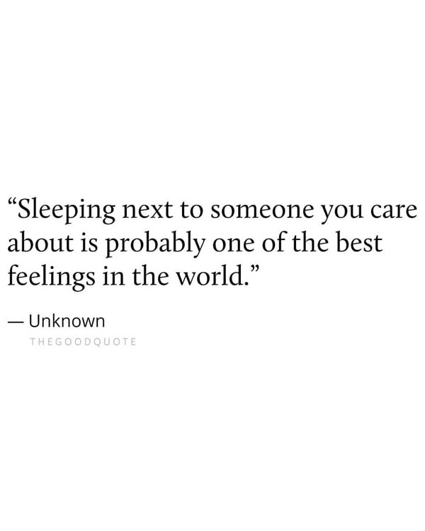 Sleeping Next to Someone