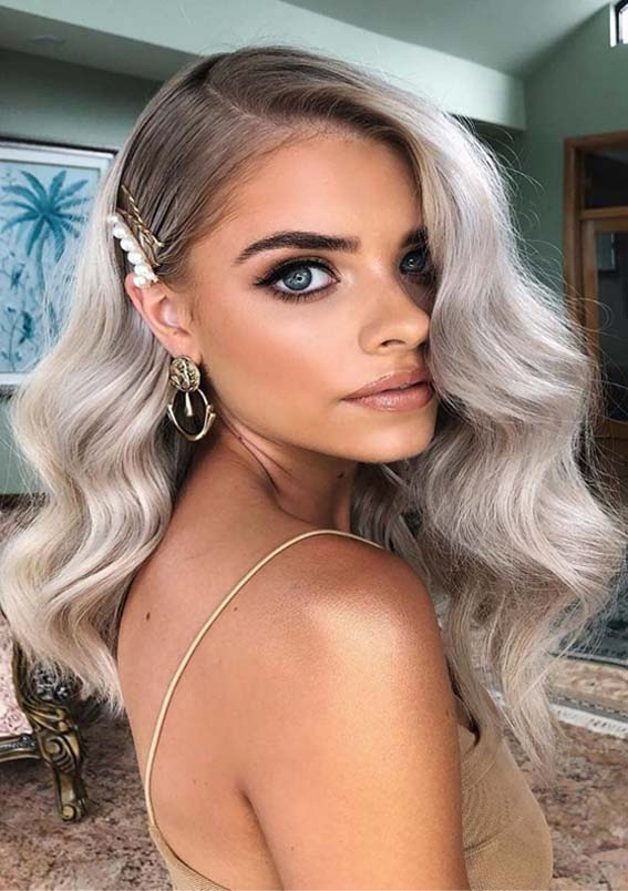 Ash Blonde Hair Color Waves for 2019