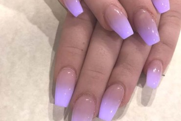 Fashionable Purple Ombre Nails Deigns in 2019