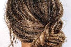 Fishtail Bun Hair Trends for Cute Girls In 2019