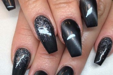 Incredible Acrylic Black Nail Art Designs in 2019