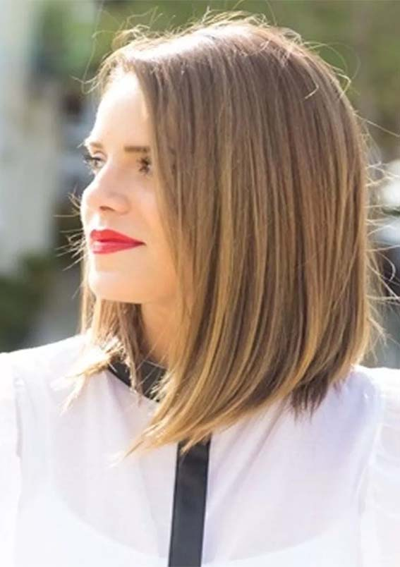 Stunning Straight Medium Length Haircuts In Year 2019 Stylezco