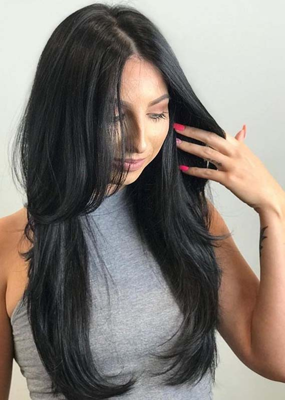Gorgeous Long Black Hairstyles Trends for 2019