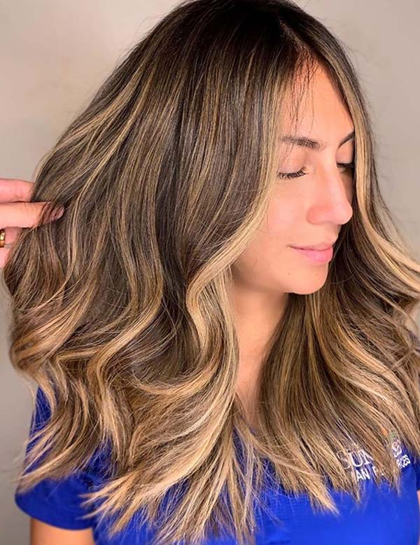 Honey Blonde Balayage Hair Color Ideas for 2019