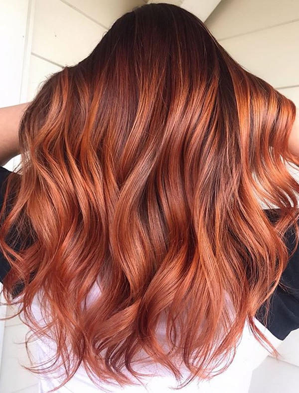 Fantastic Red Balayage Hair Colors for Women in 2019