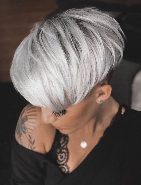 Platinum Blonde Undercut Short Haircuts for Women in 2020
