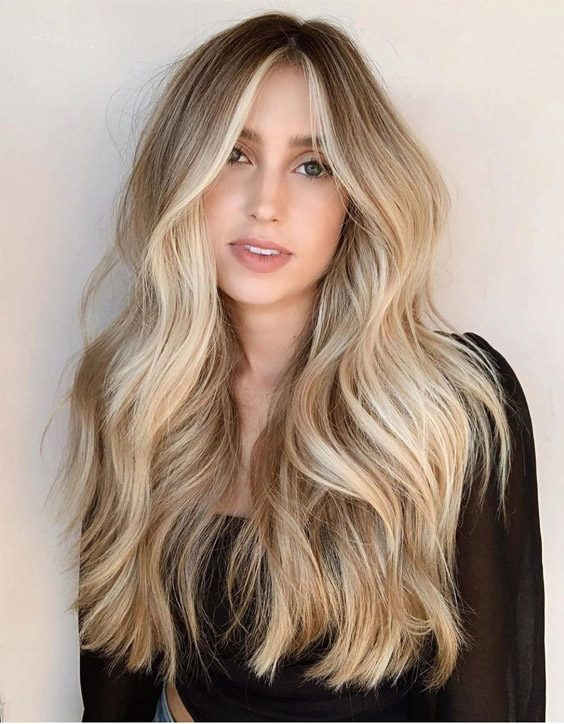 Gorgeous Long Hair Highlights & Colors for 2020