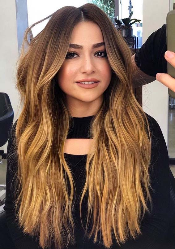 Fresh Warm Tones Of Balayage Hair Colors for Women 2020