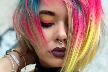 Unique & Attractive Colorful Hair Looks for Girls