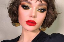 Elegant Short Hair & Makeup Style for Young Girls