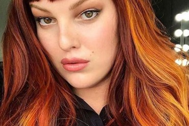 Copper and gold hair color ideas for Women 2020