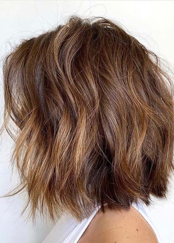 Adorable Textured Bob Haircut Styles