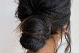 Effortless texture Undone Updo Hairstyles