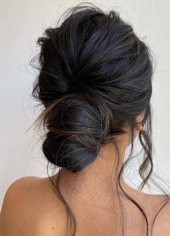 Effortless texture Undone Updo Hairstyles