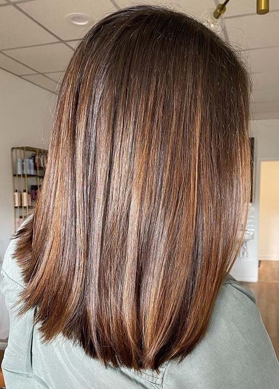 Perfect Straight Balayage Hair Styles to Show Off